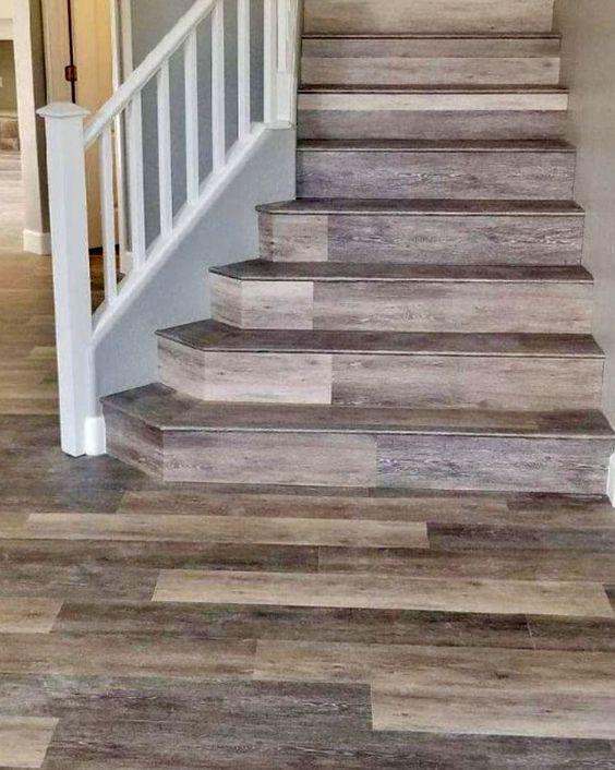 Coretec Vinyl Plank Stair Treads Hardwood Amp Vinyl Plank